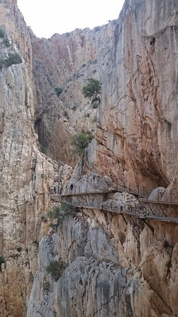 El Chorro, Spanje: tramos de pasarela