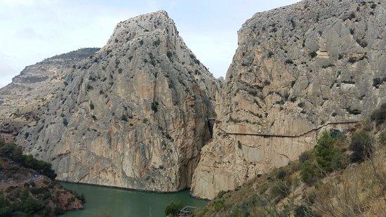 El Chorro, España: desfiladero de los gaitanes, acceso sur