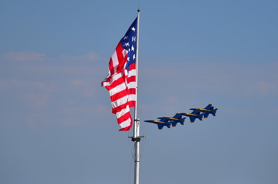 Fort McHenry National Monument with Blue Angels Air Show