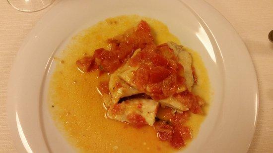 Hotel Etruria: 2nd course fish