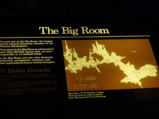 The Big Room map Picture of Carlsbad Caverns National Park Visitor