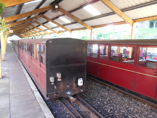 Carriages in the station in Aylsham
