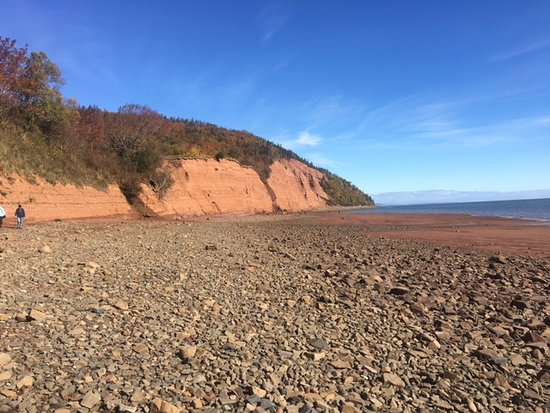 Canning, แคนาดา: view from outside the park at low tide--standing out on the basin floor at Blomidon Provincial P