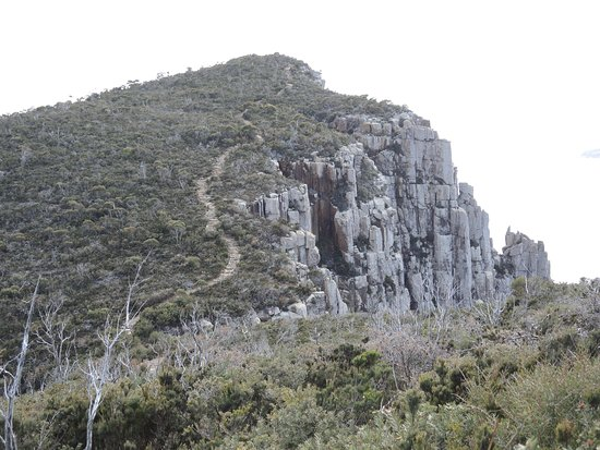Port Arthur, Australia: The track winding up to Cape Pillar and the Blade - one of the best lunch spots in the world!