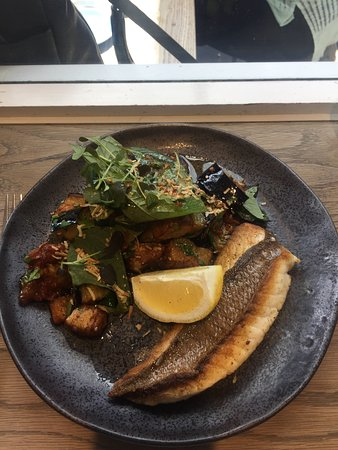 Double Bay, Australia: Fried Eggplant, Chilli Jam, coconut, plus Snapper