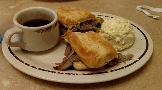 Heyburn, ID : French dip & Potato salad