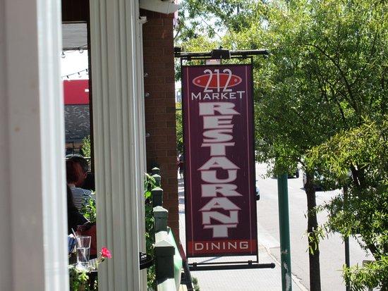 212 Market Restaurant: 212 Market Restaurat from outdoor balcony.