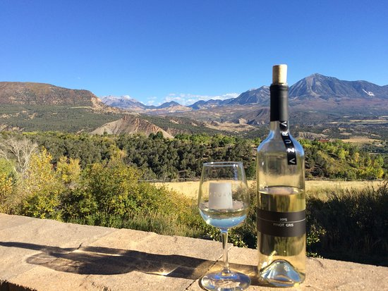 Paonia, CO: Enjoying a beautiful day and a nice glass of wine