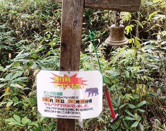 Katashina-mura, Japan: 熊追いのベル。力一杯たたくとすかっとします!