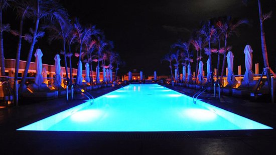 Rooftop Pool At Night Picture Of 1 Hotel South Beach Miami Beach Tripadvisor