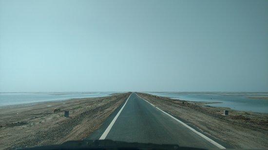 A road to white desert..