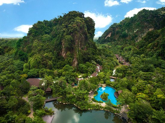 The Banjaran Hotsprings Retreat: Aerial view of The Banjaran