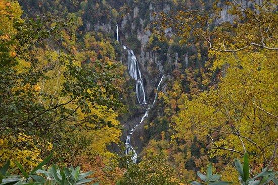 Higashikawa-cho, Japón: 羽衣の滝:滝見台より