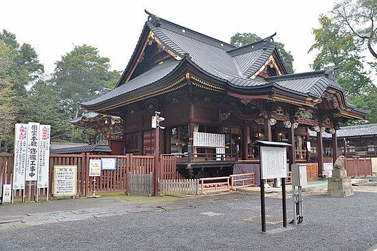 Kumagaya, Japão: 後ろ側の建物の装飾を見学するのは有料です、但し現在工事中です。