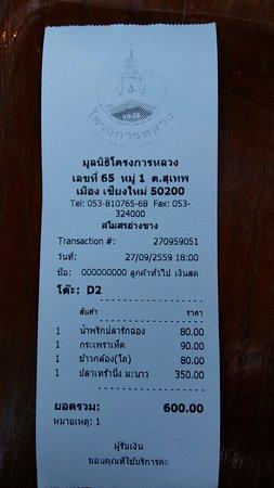 Fang City, Tayland: ราคาอาหาร 600 บาท พอดีเป๊ะ...