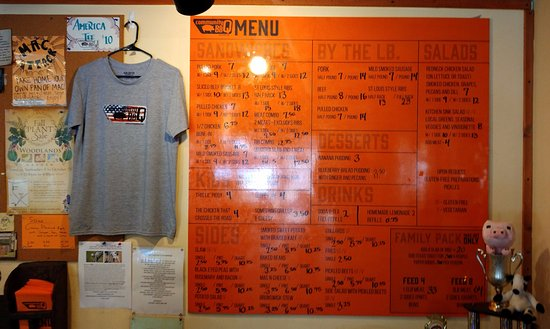 Decatur, GA: Wall sized menu for folks with less than 20/20 vision.