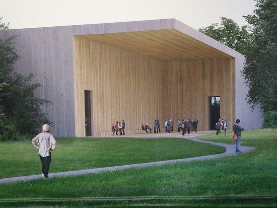 Leverkusen, Germany: Ein Foto einer geplanten Museumserweiterung