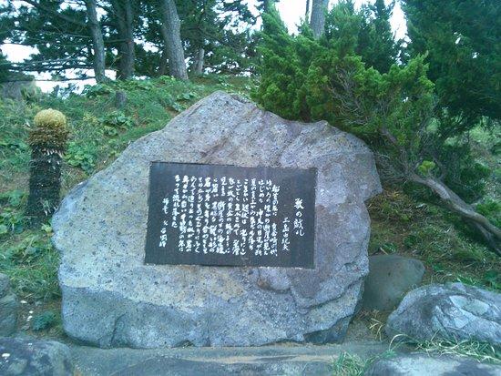 Nishiizu-cho, Japonya: 駐車場のすぐ脇に文学碑があります