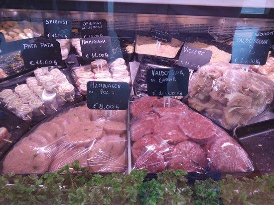 Floridia, Italia: carne fresca