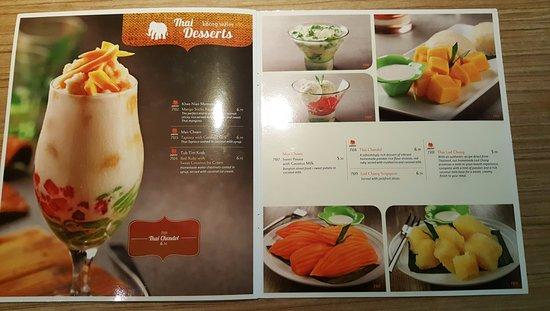 thaiexpress desert menu