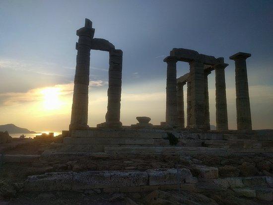 tramonto cape sounion - tempio