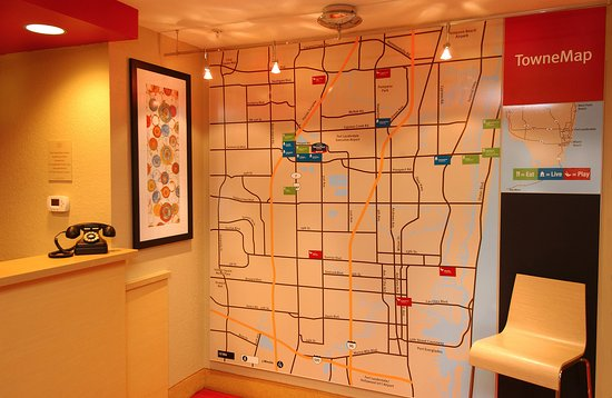 TownePlace Suites Fort Lauderdale West: Towne Map