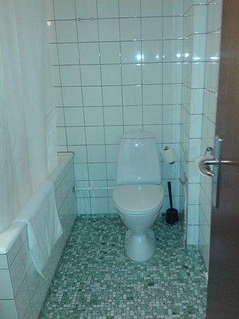 Saga Hotel: Small but clean bathroom