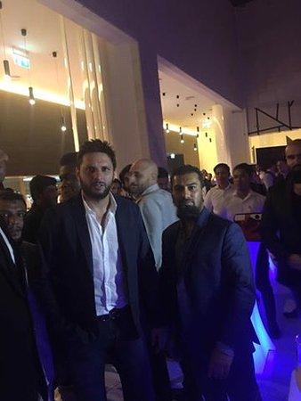 Ilford, UK: Shahid Afridi at launch of Sahara Grill Dubai