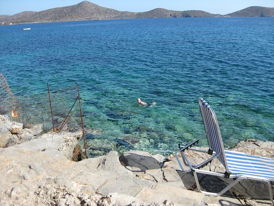 Elounda Ilion Hotel: rocky, private beach