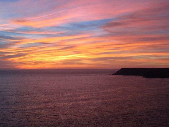 Lizard, UK: sunset view after an hour