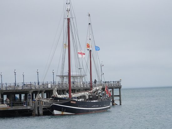 Moonfleet at Swanage - all aboard for Old Harry Rocks