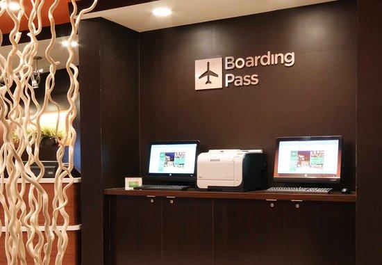 Flint, MI: Boarding Pass Print Station
