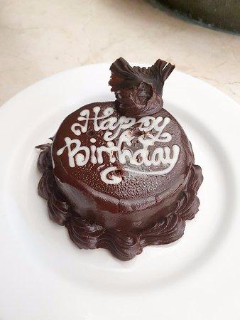 Royal Kamuela Ubud: Birthday cake from the hotel