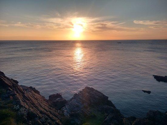 Punta Ballena, Uruguay: Sol visto do mirante
