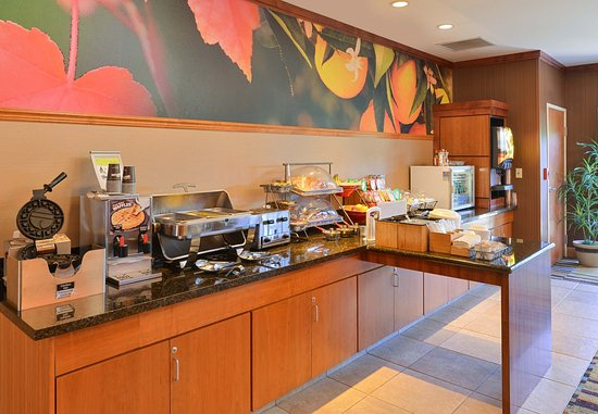 Elk Grove, Californië: Breakfast Buffet Area