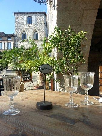 Monflanquin, França: Aldayaa - Vue sur la maison du Prince Noir