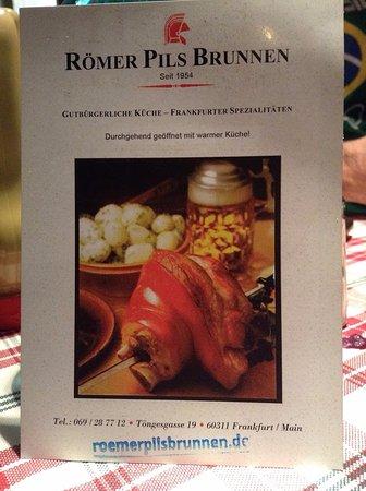 Romer Pils Brunner Picture Of Romer Pils Brunnen Frankfurt