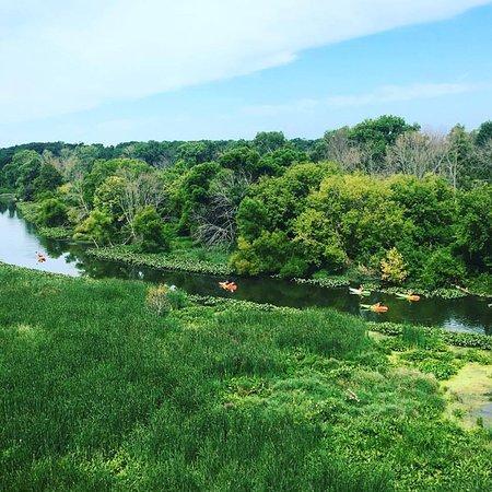 Νέο Μπάφαλο, Μίσιγκαν: Paddlers on the Galien River