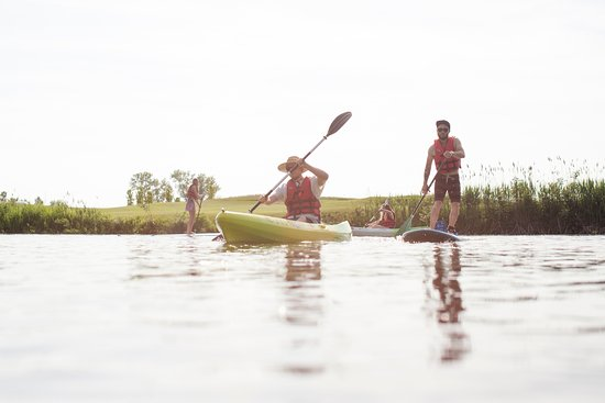 Benton Harbor, MI: Kayaks and stand-up paddleboards are available to rent by the hour