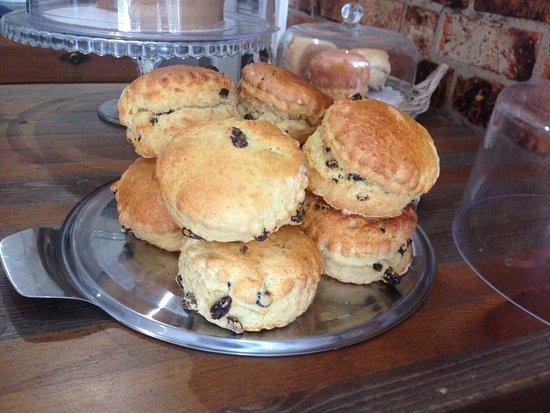 aubergine cafe home made scones