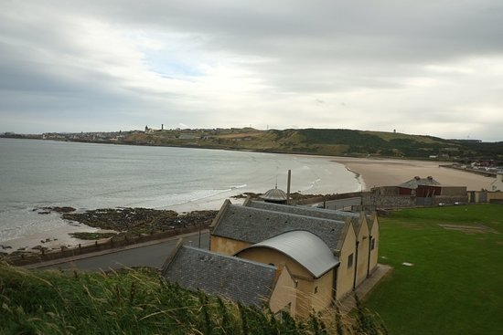 View of Banff beach to Macduff from the town