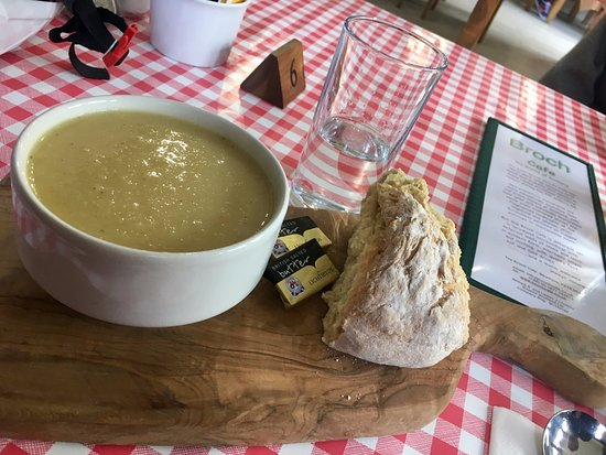 Strathyre, UK: Parsnip soup with soda bread - can't tell you how good this was.