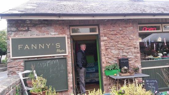 Blagdon, UK: Fanny's doorway