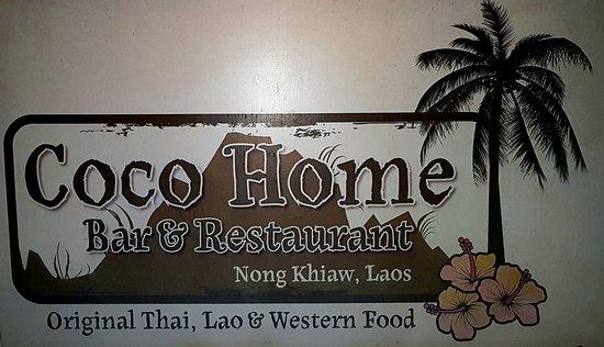Nong Khiaw, ลาว: Panneau à l'entrée