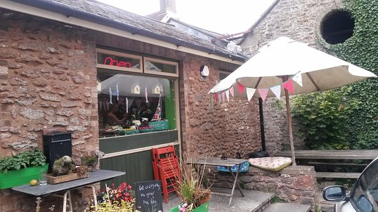 Blagdon, UK: Fanny's patio