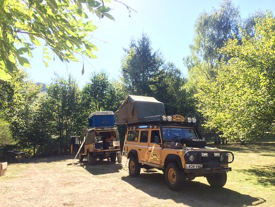 Camping in our vehicles at Compreignac