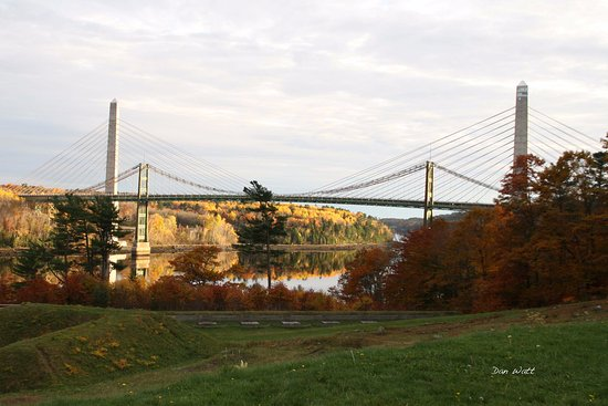 Bucksport, Μέιν: Penobscot Narrows Bridge and Observatory