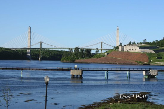 Bucksport, ME: Penobscot Narrows Bridge and Observatory and Fort Knox