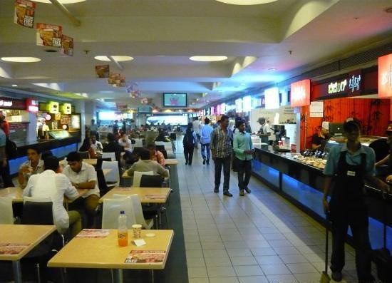 food court inside garuda mall