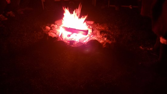 Stories around the fire @ Colonial Michilimackinac during Fort Freight 2016.
